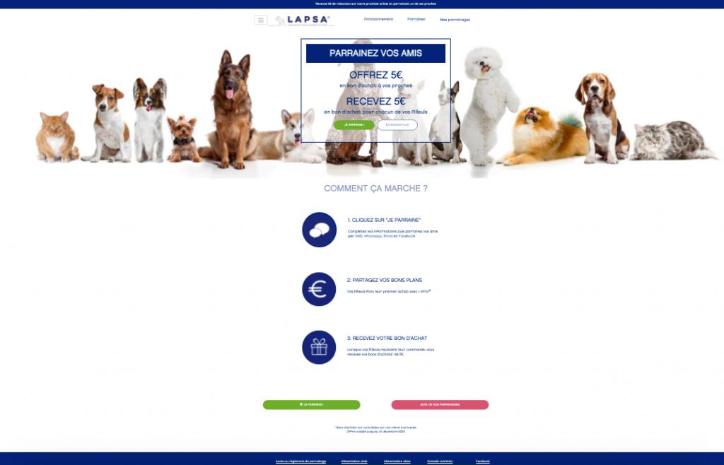 Landing Page Lapsa Lab