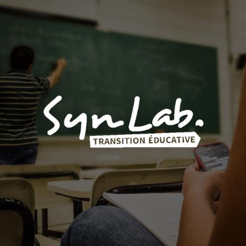 Logo Syn lab etreprof blanc