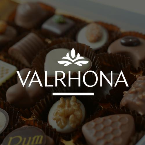 Logo blanc Valrhona
