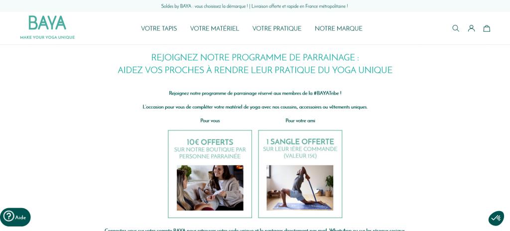 Module de parrainage Prestashop - Baya France